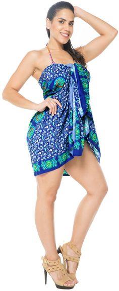 f43b01a66743e LA LEELA - Sarong Bathing Suit Pareo Wrap Bikini Cover ups Womens Skirt  Swimsuit Swimwear - Walmart.com
