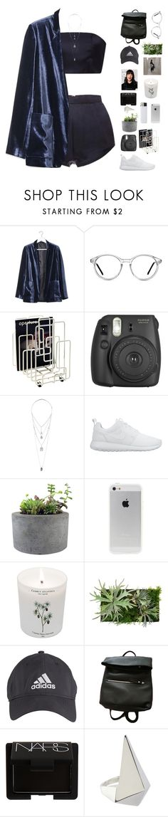 """Two piece"" by f-resh ❤ liked on Polyvore featuring Katie Ermilio, Boutique, GlassesUSA, Minus Tio, Miss Selfridge, NIKE, Rough Fusion, Carriere, adidas and NARS Cosmetics"