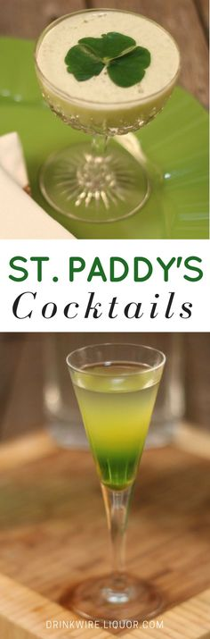 These two new green drinks are perfect for celebrating St. Patrick's Day! Whether you prefer whiskey or gin, there's a fun cocktail for you on this holiday.