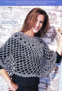 Poncho By Gayle Bunn - Free Crochet Pattern - (crochetenaccion.blogspot)