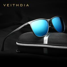 VEITHDIA Retro Aluminum Magnesium Brand Men's Sunglasses Polarized Lens Vintage Eyewear Accessories Sun Glasses For Men 6623