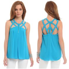 Alli Nicole Boutique - Cyan Blue Lagoon Top , $28.00 (http://www.allinicoleboutique.com/cyan-blue-lagoon-top/)