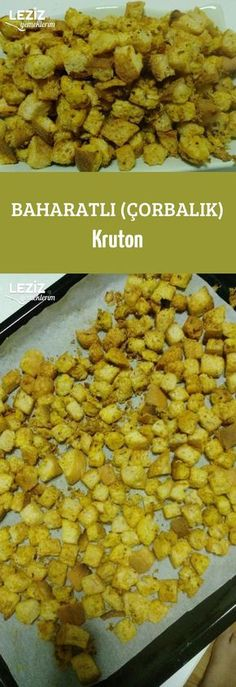 Spicy (Soup) Croutons - My Delicious Foods, Healthy Eating Tips, Healthy Nutrition, Boston Baked Beans, Spicy Soup, Soup Appetizers, Quick Easy Dinner, Vegetable Drinks, Turkish Recipes, Food Videos