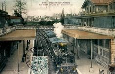 Image Nogent Sur Marne, Ville France, Trains, Image, Places, Antique Post Cards, Train