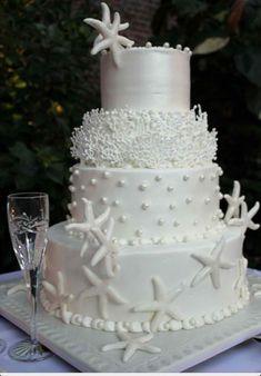 beach wedding cake  via:weddingomania                  walkingonsunshine;)