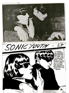 """Raymond Pettibon album cover for """"Goo"""" by Sonic Youth Peter Blake, Andy Warhol, Banksy, Sonic Youth Albums, Pink Floyd, Raymond Pettibon, Arte Punk, Punk Poster, Pochette Album"""