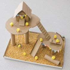 These cardboard box activities and crafts are ideal for all ages! After checking out these ideas you'll never throw out another cardboard box again! Cardboard Crafts Kids, Cardboard City, Cardboard Sculpture, Paper Crafts, Cardboard Castle, Cardboard Box Houses, Diy For Kids, Crafts For Kids, Craft Kids