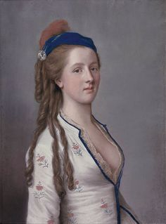 Lady Anne Somerset Countess Northampton, c 1770 Liotard in Turkish dress