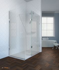 Made by The Shower Lab™, the Curium is a freestanding frameless glass shower screen. Ideal for the elderly and those less-able, it creates a luxurious wet room experience in your home. Learn more on our website today. Walk In Shower Enclosures, Frameless Shower, Shower Screen, Wet Rooms, Bathtub, Luxury, Home, Showers, Bathroom Ideas