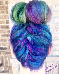 We're in love with this deep turquoise braided bun!