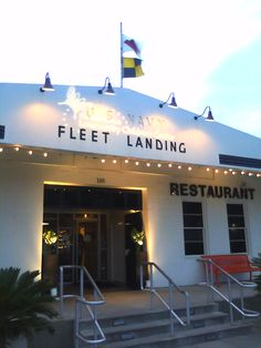 Fleet Landing Restaurant, Charleston. Excellent outdoor seating right on the harbor...