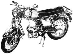 Vintage Carpati Motorcycle