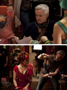 """Baz Luhrmann on the set of """"The Great Gatsby"""""""