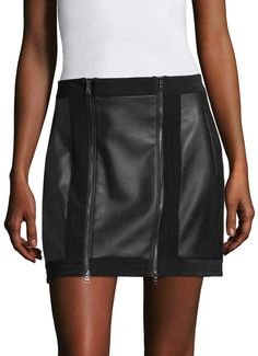 BCBGMAXAZRIA Women's Zip Front Mini Skirt. Mini skirt fashions. I'm an affiliate marketer. When you click on a link or buy from the retailer, I earn a commission.