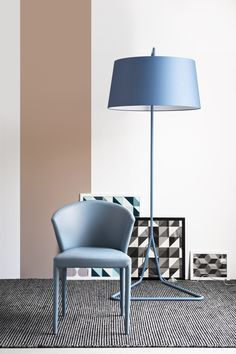AMÉLIE Leather chair by Calligaris design Orlandini Design