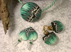 waves - polymer clay pieces by Conversations in Clay - inspired by Melanie West