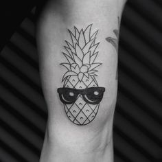 Pineapple Sunglasses Tattoo - See this Instagram photo by @bangbangnyc
