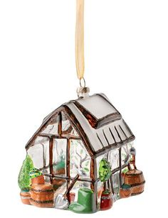 This Glass Greenhouse Ornament would be a great holiday gift for garden lovers! via Gardener's Supply Company
