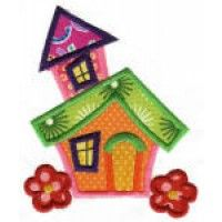 Whimsical Cottage Applique Machine Embroidery Designs | Designs by JuJu