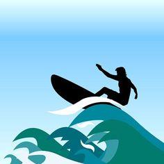 #Ilustración elaborada en #Adobe #Illustrator basada en curvas y formas que representan las #olas #salvajes de #Australia y por supuesto a los #Surfistas de esta región en uno de sus mas gloriosos momentos dominar las formas y la fuerza del #mar.  Elaborado para la #clase de #Preprensa #Digital en la #UDI - Universitaria de Investigación y Desarrollo en la ciudad de #Bucaramanga By @luigitools #Freepik