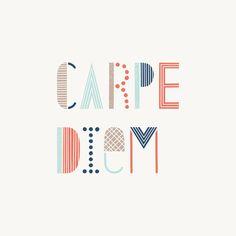 Carpe Diem Embroidery Idea