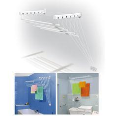 Platzspar 9,5m Decken Wäschetrockner Wäscheständer Deckenwäschetrockner: Amazon.de: Küche & Haushalt
