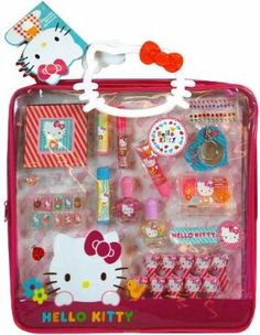 Amazon.com  Sanrio Hello Kitty Mega PVC Tote Bag with Cosmetics  Toys    Games. Jersey Bling® 346d3619f5ac2