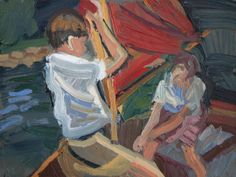 'John & Susan Hoisting The Mast' 2014 oil on wood, Arthur Ransome, Swallows And Amazons, Painting & Drawing, Drawings, Paintings, Oil, Paint, Painting Art, Sketches