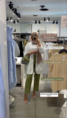 Modest Fashion Hijab, Muslim Fashion, Modest Outfits, Fashion Outfits, Mode Turban, Blazer Outfits For Women, Neutral Outfit, Hijab Outfit, Aesthetic Clothes