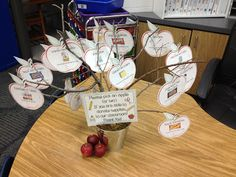 Wish List Apple Tree for Open House. Saving this idea for next year...
