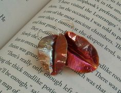 FallenCopper Leaf Earrings by torchandhammer on Etsy