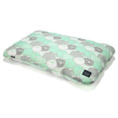 Bed Pillow - Mint Sheep Family