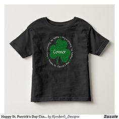 Happy St. Patrick's Day Custom Name kid's t-shirt  #kymberlidesigns
