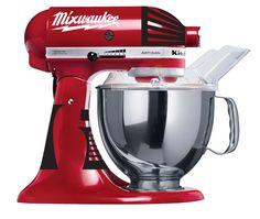 KitchenAid Milwaukee drill decal art. MIXWAUKEE man mixer. $9.99, via Etsy.