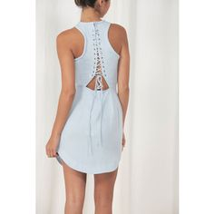 Stylestalker long beach lace up dress