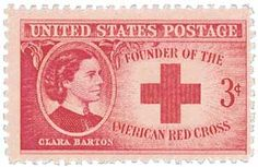 Love this 1948 Clara Barton, founder of the American Red Cross, US Postage Stamp
