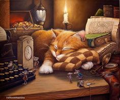 Quand le chat dort...