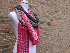 Endless Love Skinny Scarf – Free Crochet Pattern – It's all in a Nutshell