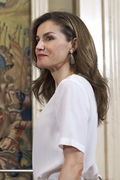 Queen Letizia of Spain Photos Photos - Queen Letizia of Spain attends several audiences at the Zarzuela Palace on July 5, 2017 in Madrid, Spain. - Spanish Royals Attend Audiences at Zarzuela Palace in Madrid