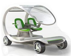 """carts go the clean-green way with WIO golf cart made entirely of vegetable composites and emits only water - Design to """"marketply""""!golf cart made entirely of vegetable composites and emits only water - Design to """"marketply""""! Custom Golf Carts, Green Cleaning, Cool Gadgets, Concept Cars, Inventions, Cool Cars, Minis, Robot, Cool Stuff"""