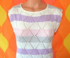 vintage 70's sleeveless sweater tank top pastel by skippyhaha, $20.00