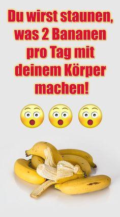 Du wirst staunen, was 2 Bananen pro Tag mit deinem Körper machen! Probiere es einmal aus und esse ei