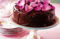 Rose petal chocolate cake Recipe Give your friends a real treat with this de luxe chocolate cake that's brimful of sweet ...