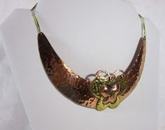 Copper butterfly necklace  handcrafted collar by JanesVintage