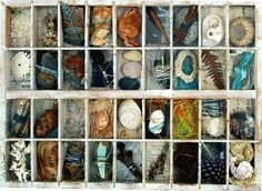 From Here to There by Shelley Rhodes Gcse Art, Assemblage Art, Box Art, Art Boxes, Natural Forms, Shadow Box, Collage Art, Collages, Textile Art