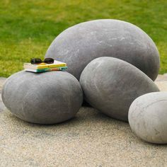 Felted Wool Stones - Available in Three Sizes | VivaTerra