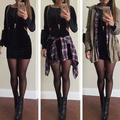 Look vestido preto, vestido de veludo preto, roupas descoladas, roupas de o Edgy Outfits, Mode Outfits, Cute Casual Outfits, Dress Outfits, Fashion Dresses, Pastel Outfit, Look Fashion, Teen Fashion, Womens Fashion