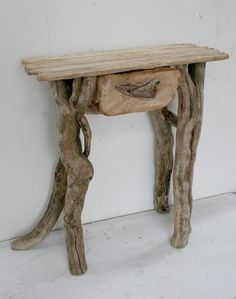 Driftwood End table, Driftwood Console table, Driftwood Hall Table, With Draw Rustic Log Furniture, Driftwood Furniture, Driftwood Table, Cute Furniture, Driftwood Wall Art, Driftwood Crafts, Furniture Makeover, Furniture Design, Diy Wood Projects