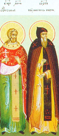 """Holy Martyr Kuksha of the Kiev Near Caves (12th cent) cast out devils, baptized pagans, brought rain, dried up a lake, and martyred with his disciple Nikon. His death was revealed to Saint Pimen the Faster. Standing in the church of the Monastery of the Caves, he loudly exclaimed, """"Our brother Kuksha was killed today for the Gospel."""" After saying this, he also surrendered his soul to God. (both Aug 27)"""