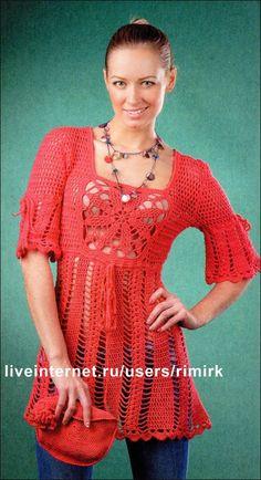 CARAMELO DE CROCHET: Blusón en rojo